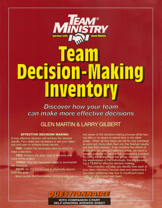Team Decision - Making Inventory | ChurchGrowth.org