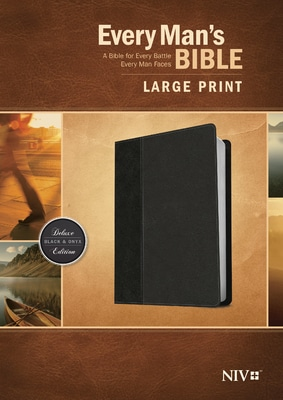 Every Man's Bible NIV, Large Print, Black/Onyx