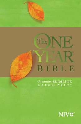 The One Year Bible NIV, Premium Slimline Large Print